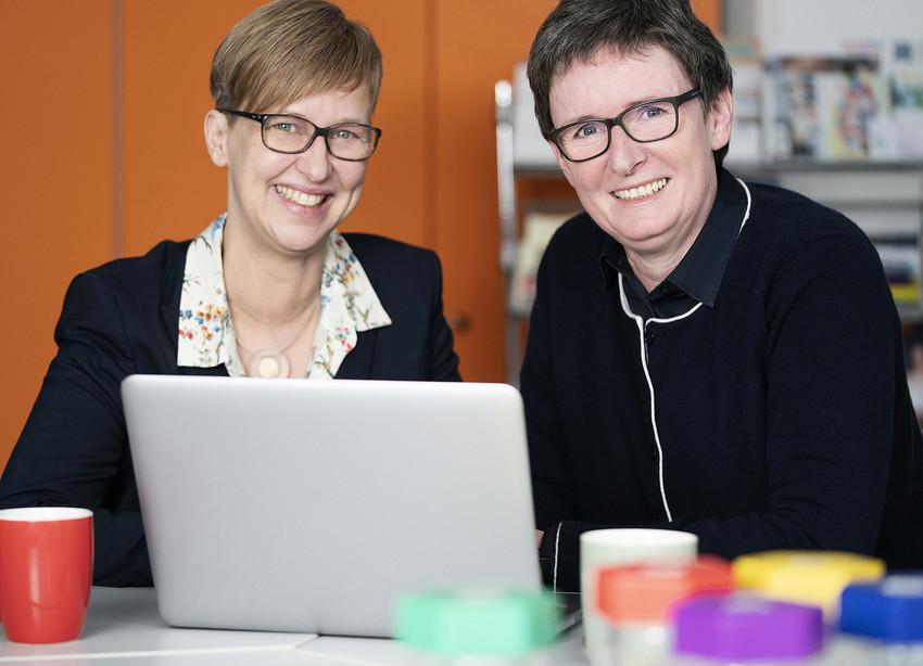 Sabine Mellies und Dr. Ulrike Struwe, Geschäftsführerinnen kompetenzz