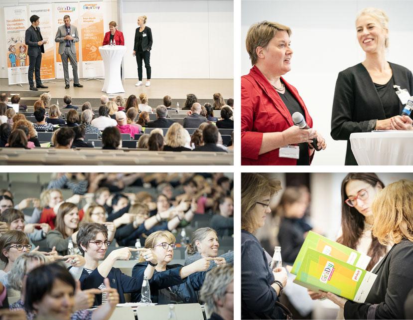 Collage aus mehreren Fotos von Teilnehmenden einer Tagung