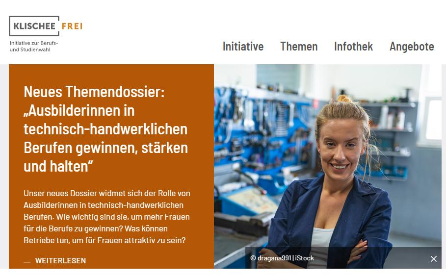 Screenshot der Startseite klischee-frei.de