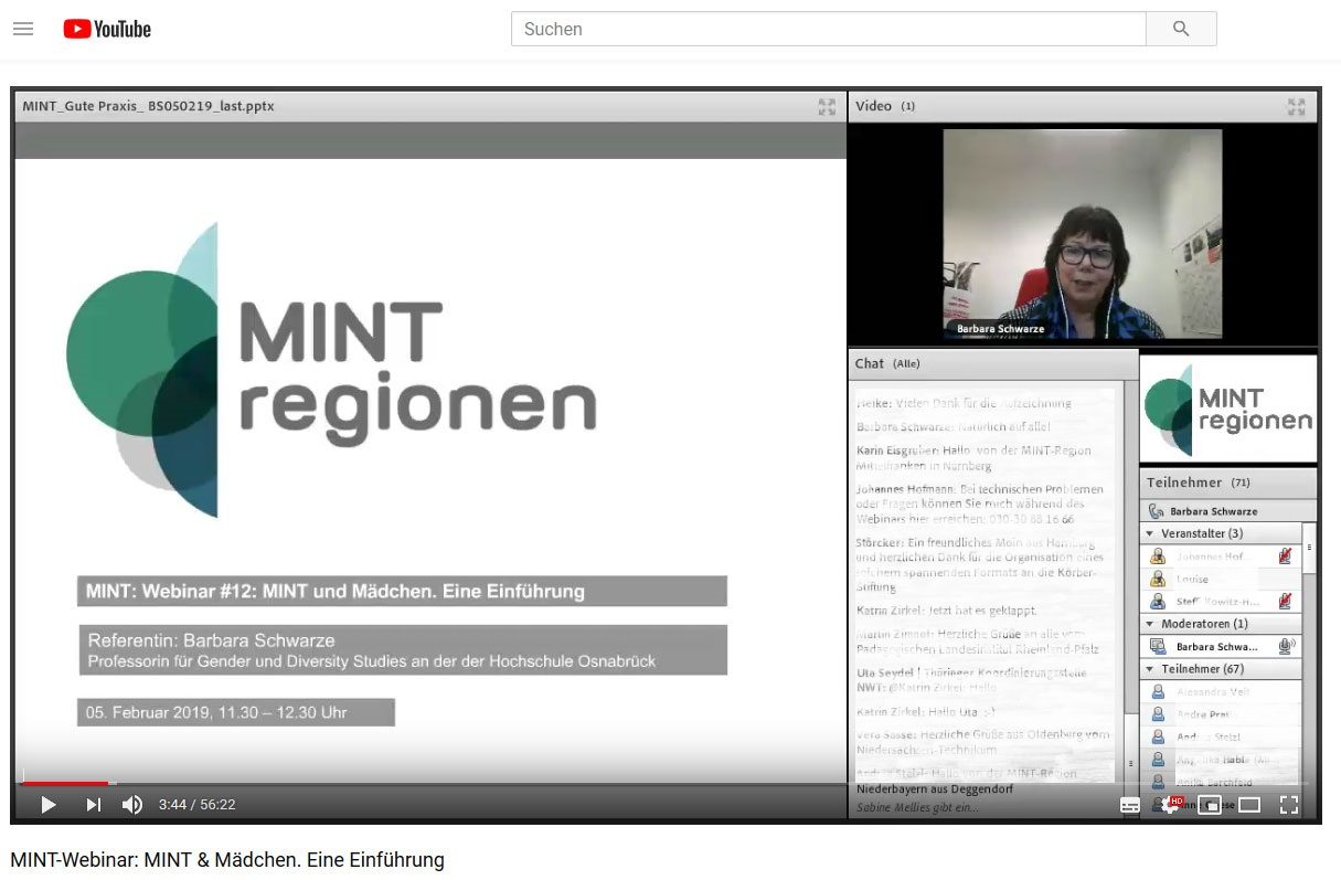 Screenshot Online-Seminar