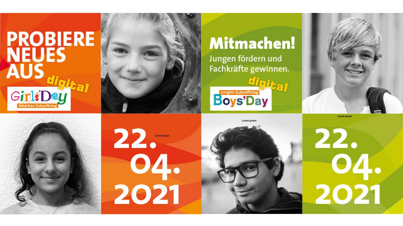 Grafik zum Girls'Day und Boys'Day digital