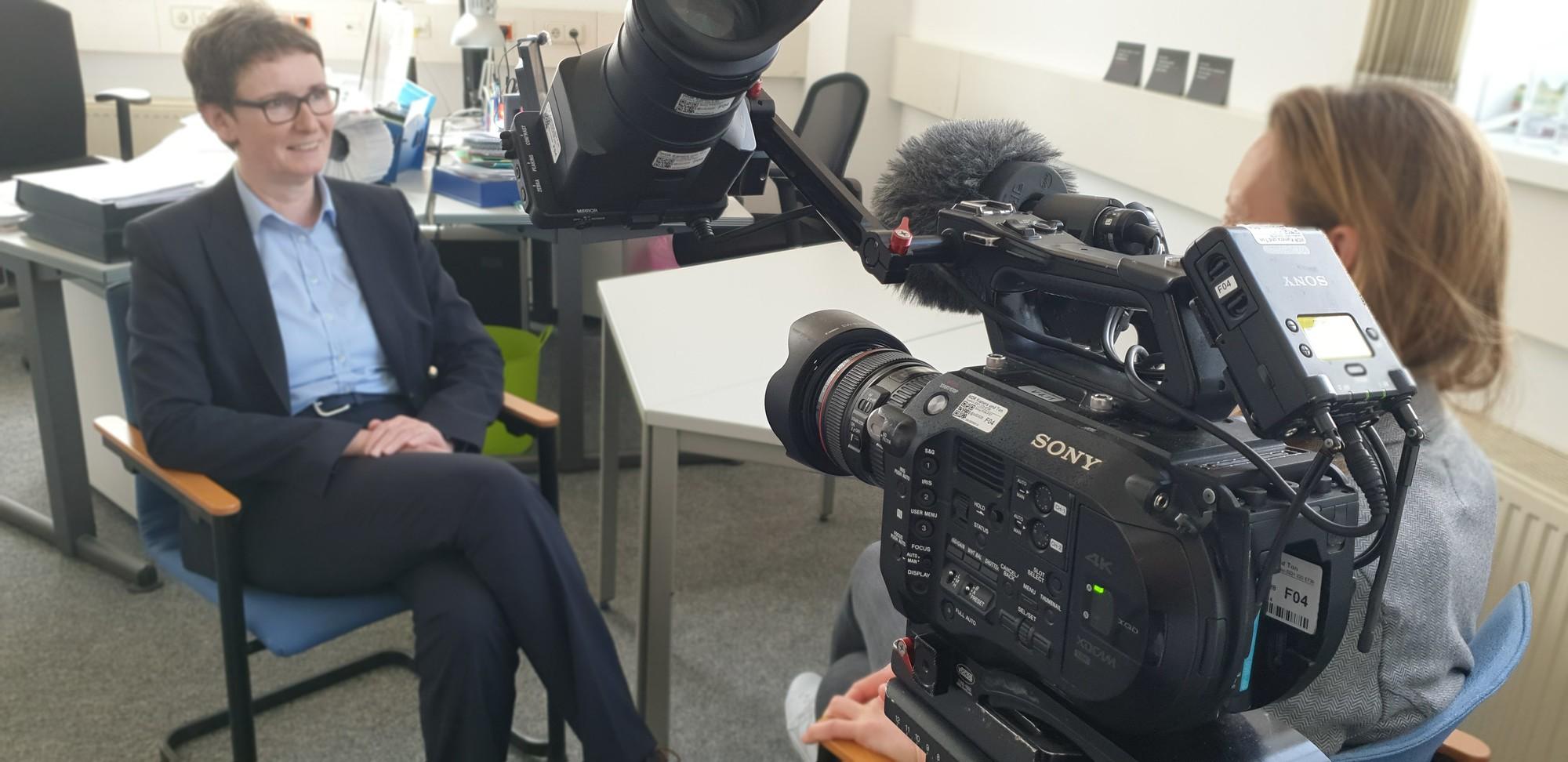 Bild Interview für Frau TV mit Ulrike Struwe