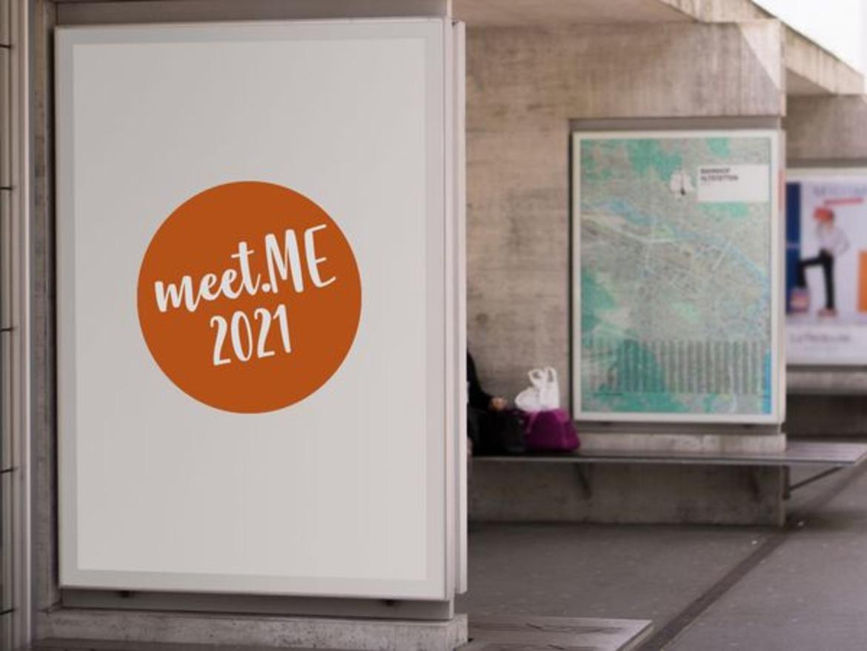 Werbetafel mit der Aufschrift meet.ME 2021