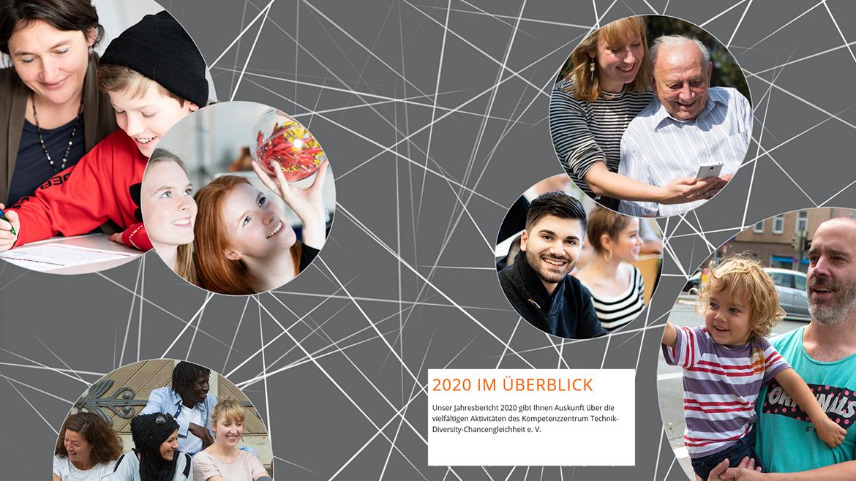 Screenshot Startbildschirm Online-Jahresbericht 2020