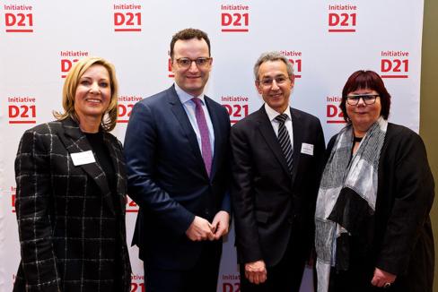 Cornelia Gottbehüt, Jens Spahn, Hannes Schwaderer und Barbara Schwarze beim Neujahrsempfang