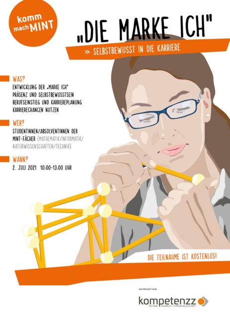 Plakat: Ankündigung des Workshops die Marke ICH