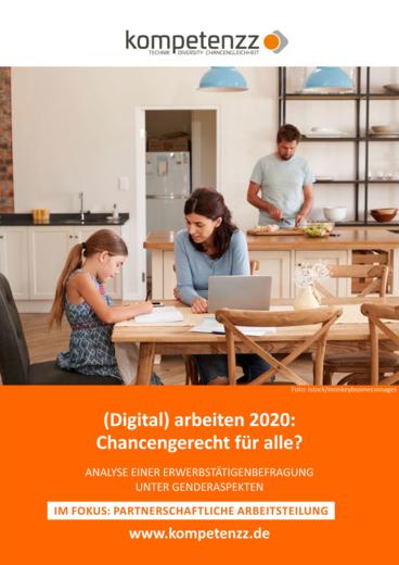 Titelbild der Studie (Digital) arbeiten 2020, zweiter Teil