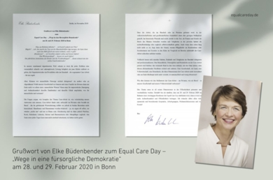 Grußwort Büdenbender Equal Care Day